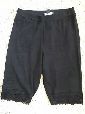 Primark Lace Trim Cycling Shorts Black Size 10/12 • 3.99£