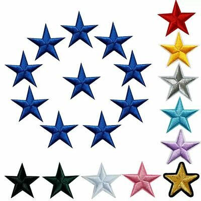 £1.89 • Buy Star Patch Blue Pink Gold Patches Iron On Alphabet Embroidery Clothes Space