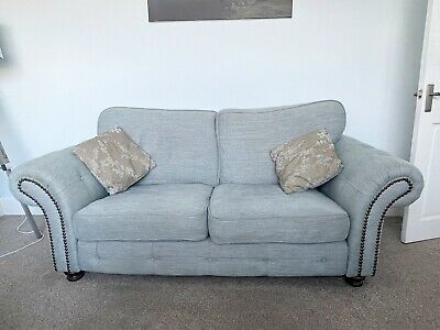 DFS Small 3 Seater Sofa, Love Seat, Scatter Cushions And Footstool • 150£