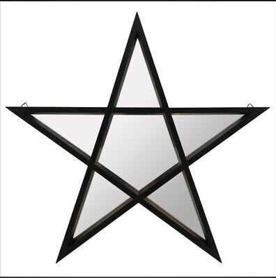 £20 • Buy  Mirror Black Framed Pentagram Shaped Wall Hanging Pagan Wiccan Gothic Witch