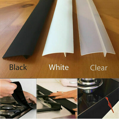 £6.99 • Buy 2Pcs Stove Counter Gap Silicone Cover Spill Guard Seals Filler For Cooker Roof