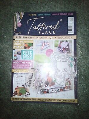 Tattered Lace Magazine 78 With Die And Stamps BRAND NEW Still In Packaging 2020 • 12.99£