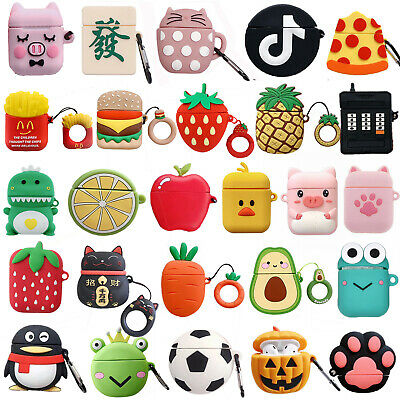 AU7.80 • Buy 3D Cute Animals Silicone Airpod Protective Case Cover Skin For Apple Airpods 1&2