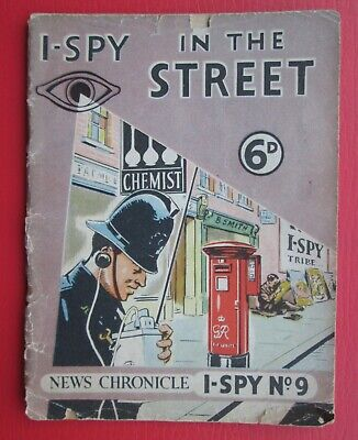 Rare 1950s Vintage News Chronicle I-Spy In The Street 6d. Book No.9. Used • 4£