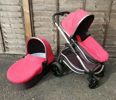 ICANDY Strawberry Travel System Pushchair And Carrycot Red Black • 74.99£