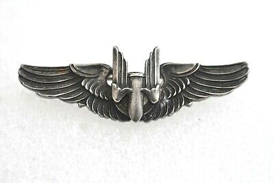 $49.90 • Buy Amico Sterling Silver WWII US Military Gunner Bomber Pilot Wings Pin / Brooch 2