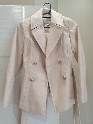 AU28 • Buy Forever New Winter Pea Coat, Size 8, Fully Lined, Neutral Colour