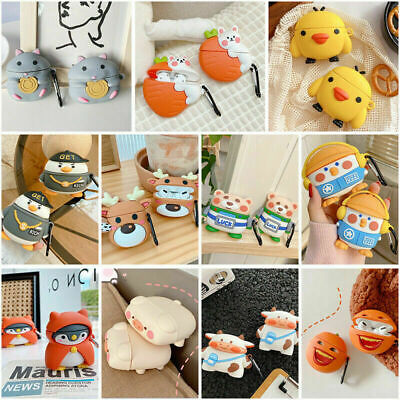 AU12.89 • Buy For AirPod 1 2 3 Pro Cute 3D Cartoon AirPods Soft Silicone Case Protective Cover