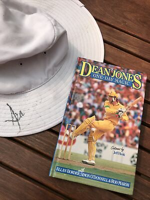 AU40 • Buy Signed Dean Jones Australian Test Hat Plus Hard Cover Book One Day Magic 1991