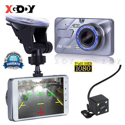 AU33.99 • Buy XGODY 1080P Car Dash Cam Front & Rear Dual Lens DVR Video Recorder Night Vision