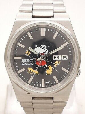 $ CDN1.24 • Buy Vintage Seiko 5 Japan 7S26 Automatic MickeyMouse Dial See Through Back Men Watch