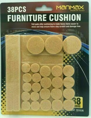 Furniture Pads Floor Anti Scratch Laminate Protector Felt Self Adhesive 38 Pc • 3.08£