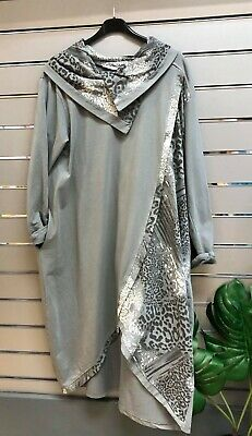 Ladies Made In Italy Lagenlook Parachute DRESS 48 BUST 14-20UK SIZE COTTON OSFA • 45£