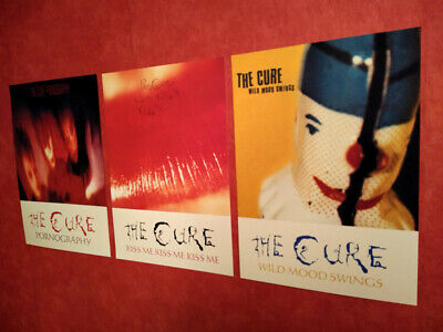 £11.99 • Buy The Cure A3 Poster Prints Album Artwork 3 Set Pornography Wild Mood Swings