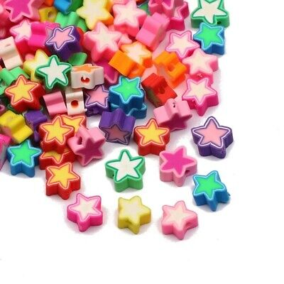 £3.19 • Buy Polymer Clay Star Shape Beads 10mm Loose Spacer Bead 20pcs DIY Jewelry Making