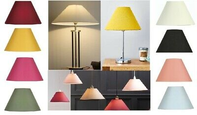 £9.95 • Buy Cotton Textured Fabric Coolie Light Shade Table Ceiling Lampshade