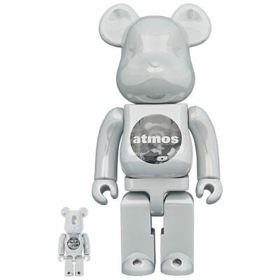 $326.39 • Buy MEDICOM TOY Be Rbrick Atmos White Chrome 100 400 Bearbrick  Unopened From Japan