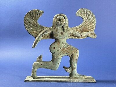 Large Size Ancient Greek Bronze Statue Mythology Sphinx - Circa 500 BC 148X153mm • 54£