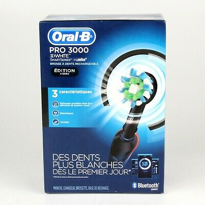 AU37.87 • Buy *Oral-B Pro 3000 3D White SmartSeries Electric Toothbrush *Black Edition*