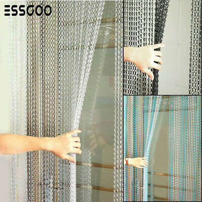 Metal Chain Fly Insect  Door Screen Curtain Pest Control Gray 214x90CM UK • 29.99£