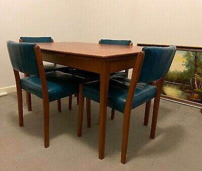 AU500 • Buy Mid-Century Danish Teak Extendable Dining Table With Chairs