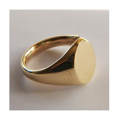 AU830.50 • Buy SALE 9ct Yellow Gold Bespoke Oxford Oval Signet Ring 16x13mm 13.4g HM UK Size U