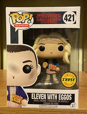 AU36 • Buy Funko Pop Eleven With Eggos Chase #421 Stranger Things Netflix W/PP 2017
