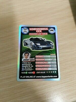 £25 • Buy Top Gear Turbo Challenge SUPER RARE TRADING CARDS 255/276 JUST OPENED PACKETS