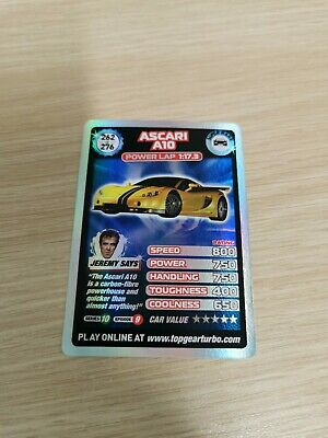 £15 • Buy Top Gear Turbo Challenge SUPER RARE TRADING CARDS 262/276