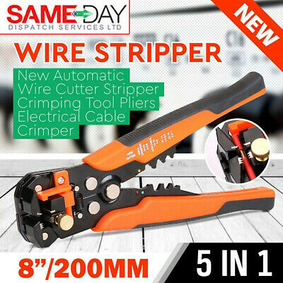 £12.99 • Buy Automatic Self Adjustable Cable Wire Crimper Crimping Cutter Stripper Plier Tool