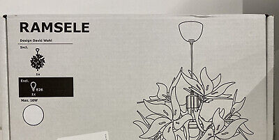 Ikea RAMSELE Ceiling Pendant Lamp 17  Decorative Flower White - NEW • 77.96£
