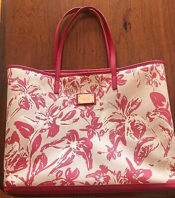 AU46 • Buy Oroton Large Red / Cream Floral Tote