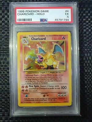 AU850 • Buy Charizard Base Set Holo 1999 WOTC Pokemon Card 4/102 - PSA 5