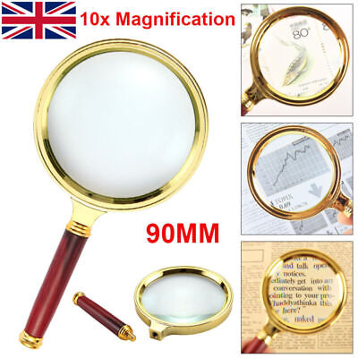 £3.79 • Buy Classic 10X Magnifier Magnifying Glass 90mm Handheld Jewelry Loupe Reading UK