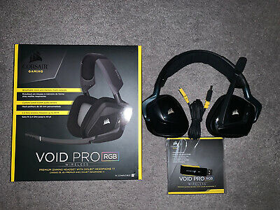 AU90.40 • Buy Corsair VOID PRO RGB Wireless Gaming Headset With Upgraded Battery