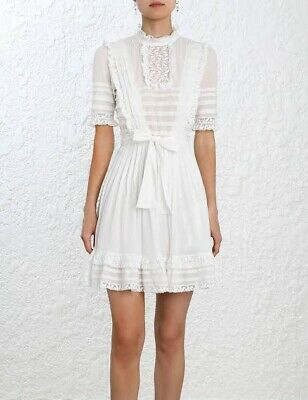 AU169 • Buy Zimmermann Helm Layered Frill Dress Ivory Size 0