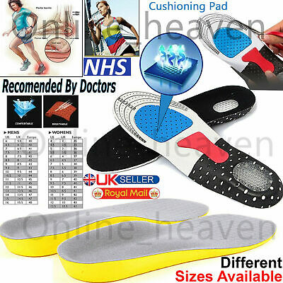 Orthotic Insoles For Arch Support Plantar Fasciitis Flat Feet Back & Heel Pain • 2.99£