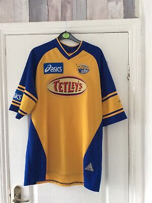 Mens Rugby Shirt LEEDS RHINOS Size L • 10£