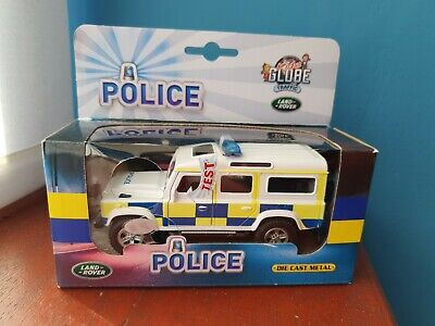 Kids Globe Die Cast Metal Land Rover Defender Toy POLICE Landrover Light & Sound • 10.99£