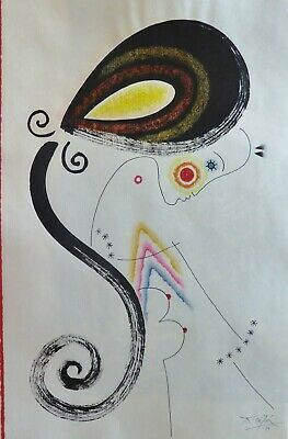 £1053.09 • Buy Anton Cetin Original Ink, Charcoal And Pastel Drawing Hand Signed 1999 Croatian