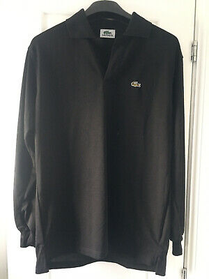 Lacoste Mens Black Size Large Long Sleeved Polo Shirt  • 10£