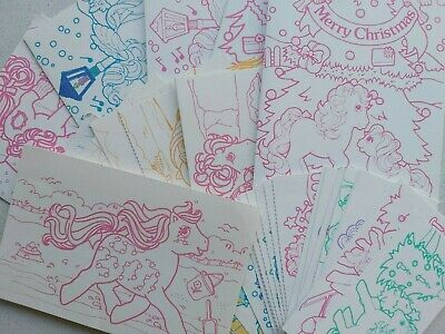 My Little Pony G1 Vintage Retro Club UK Postcards Cards Gift Tags Paper 41 Items • 10.50£