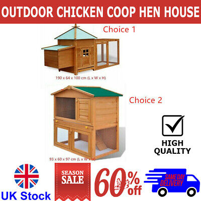 £118.23 • Buy Outdoor Chicken Coop Hen House Carrier Poultry Animal Habitat Cage Animal House