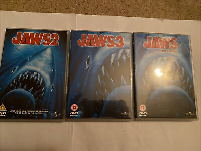 Jaws 2,3 And 4 Set Dvd • 12£