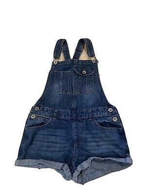 Girls Jean Shorts Dungarees, Age 12-13 Years, Primark • 5£