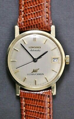 £610.73 • Buy Vintage Longines Automatic Ultra-Chron 14k Gold Swiss Men's Watch Running Well
