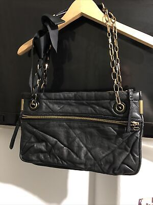Lanvin Amalia Black Quilted Leather Bag M Size • 109.99£