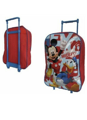 £9.99 • Buy MICKEY MOUSE Children Kids Boys Wheeled Cabin Hand Luggage Trolley Travel Bag