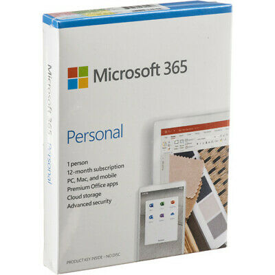 AU56.11 • Buy Microsoft Office 365 Personal 12-Month, 1 Person, PC/Mac QQ2-01024 In Retail Box
