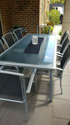 AU590 • Buy Outdoor Dining Table And 8 Chairs All With Arms